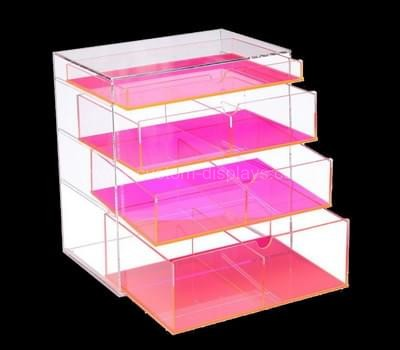 CAB-082-2 Acrylic drawer box with colored dividers