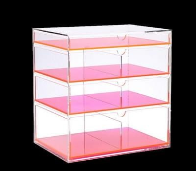 Acrylic drawer box with colored dividers