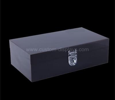 CAB-083-1 Black acrylic box with lid