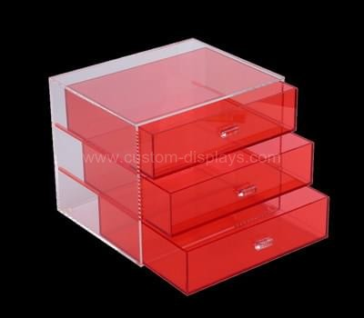 Colored makeup drawer organizer