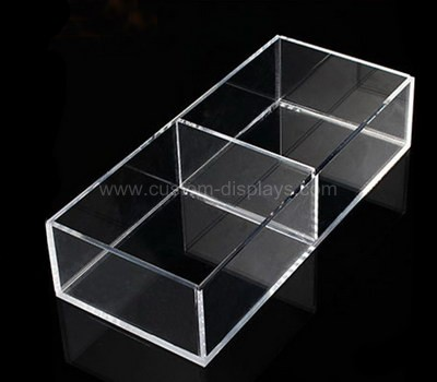 5 sided acrylic box with divider