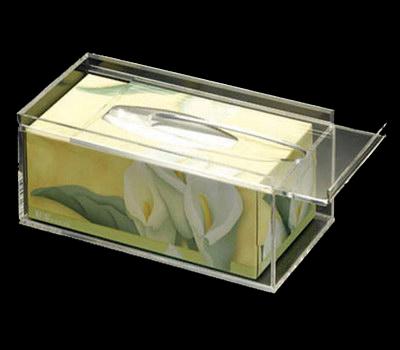 Acrylic tissue box holder