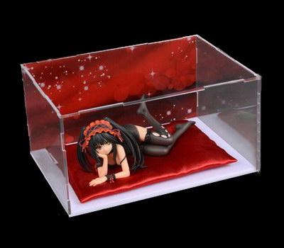 Flat packed DIY plastic display box