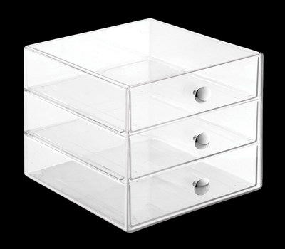 3 drawer acrylic box