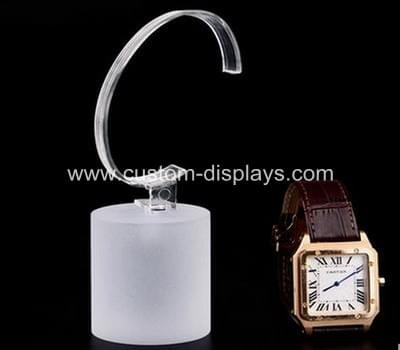 Frosted white acrylic watch display