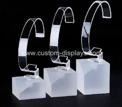 Frosted acrylic single watch display stand