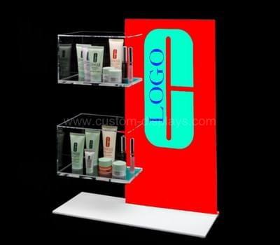 Makeup display shelves