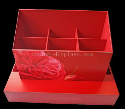 Red acrylic holder