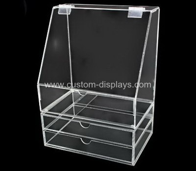 Hinged acrylic box with drawer