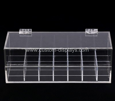 Hinged acrylic compartment box
