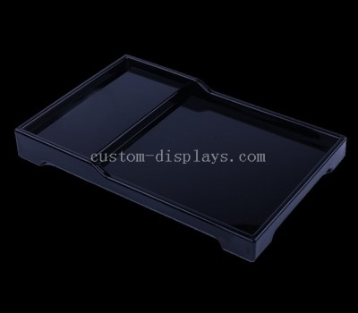 Black plastic tray