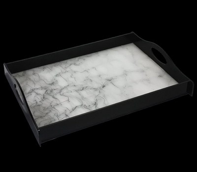 Acrylic tray with paper insert