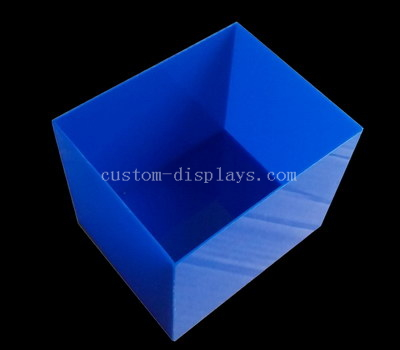 Blue acrylic 5 sided box