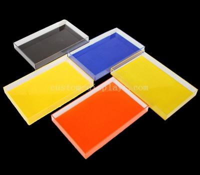 Color acrylic tray
