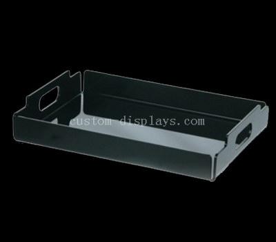 Black lucite tray
