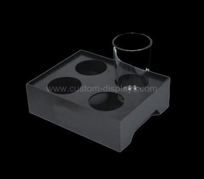 Black acrylic cup organizer