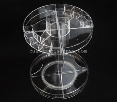 Clear acrylic cosmetic display