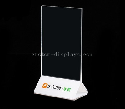 Lucite sign holders