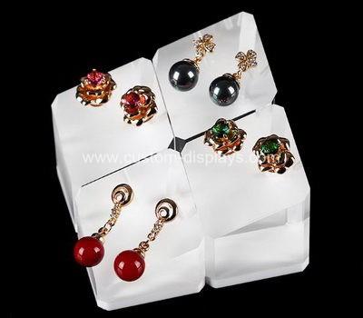 Perspex earring holder