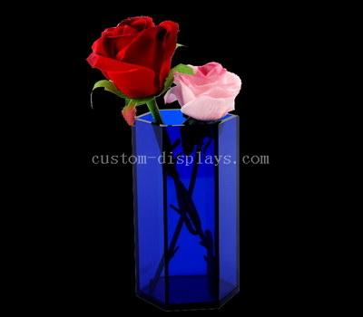 Blue acrylic vase