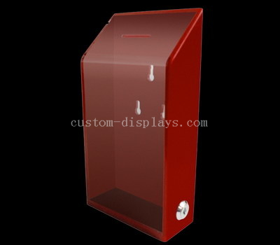 Acrylic donation box with lock