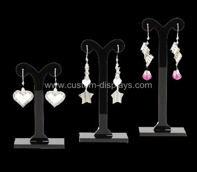 Black acrylic earring display