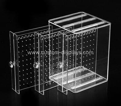 Acrylic earring organizer box