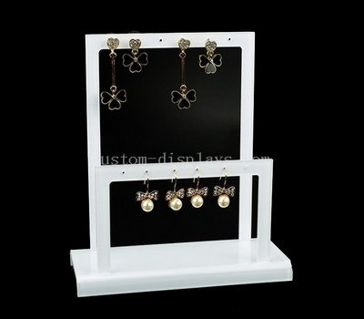 white acrylic earring display stand