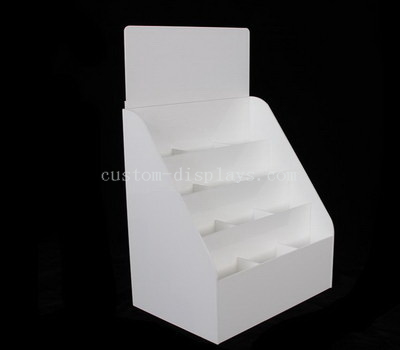 White acrylic display holder