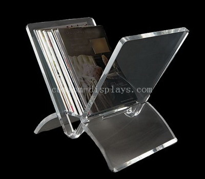 clear acrylic magazine holder
