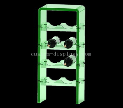 Wine bottle display rack