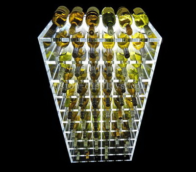 Acrylic liquor display rack