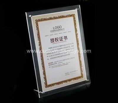 Bespoke acrylic certificate frames