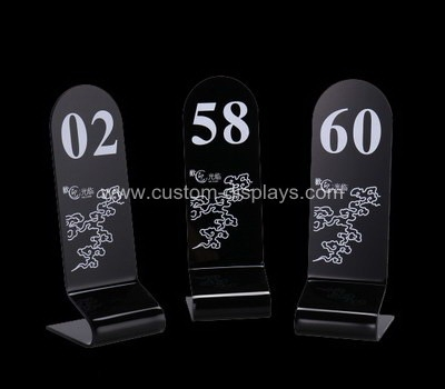 CAS-108-1 Custom acrylic table number stand