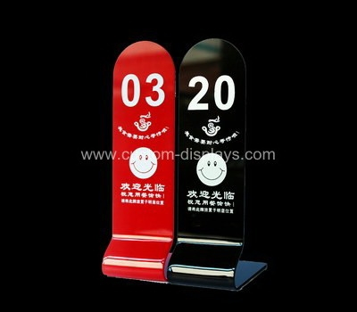 CAS-108-2 Custom acrylic table number stand