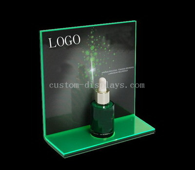 L shaped makeup display stand