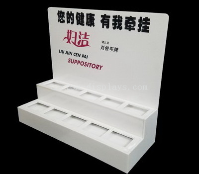 White makeup display stand