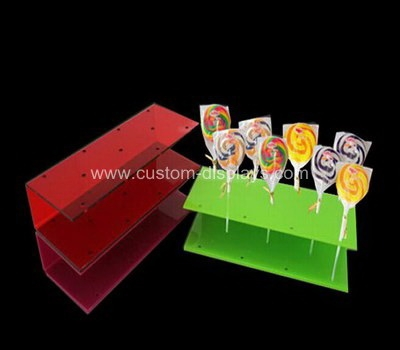 Colored acrylic lollipop display stand