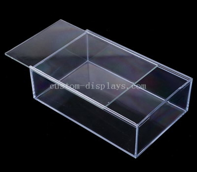 Custom acrylic box with sliding lid