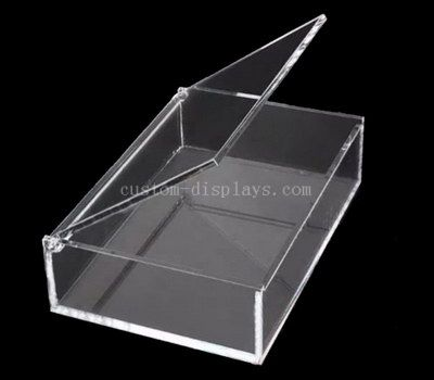 Acrylic box with pinned lid