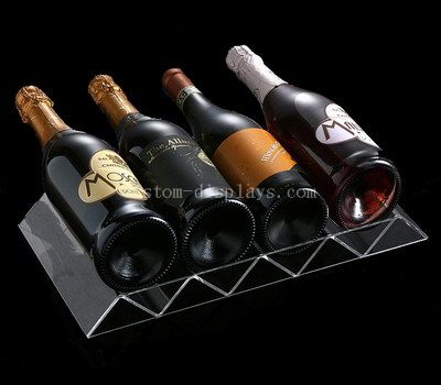 Clear acrylic wine rack