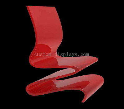 Red lucite chair