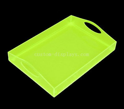 Green acrylic tray