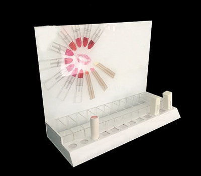 White lipstick display stand