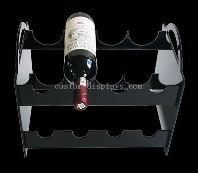 Custom wine bottle display rack