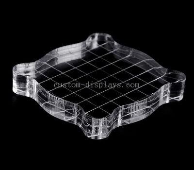 CBL-001-9 Custom acrylic stamping block