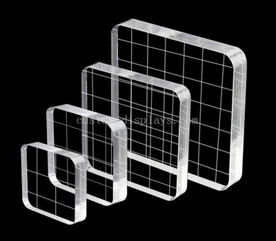 Custom clear stamping tools set with grid lines