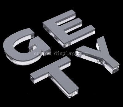 Custom clear acrylic letters
