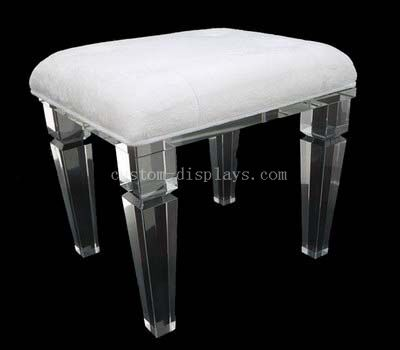 Acrylic stool with cushion