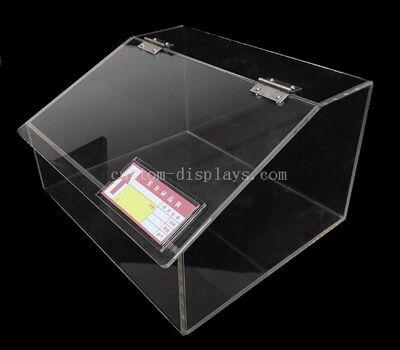 Clear acrylic popcorn bins